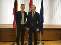 E. Butkus keičia Ekonomikos ir inovacijų Ministrą V. Sinkevičių tarptautinės studentų dienos proga